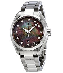 Omega Seamaster Aqua Terra Mother of Pearl Diamond Dial Stainless Steel Automatic Ladies Watch