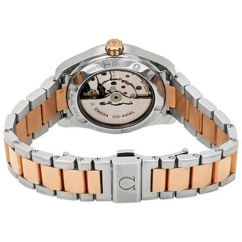 Купить часы Omega Seamaster Aqua Terra Mother of Pearl Diamond Dial Steel and 18K Rose Gold Ladies Watch  в ломбарде швейцарских часов