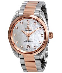 Omega Seamaster Aqua Terra Mother of Pearl Diamond Dial Watch