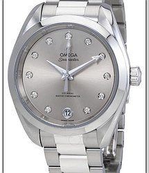 Omega Seamaster Aqua Terra Silver Diamond Dial Ladies Watch