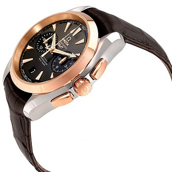 Купить часы Omega Seamaster Aqua Terra Teak Grey Dial GMT Steel and 18K Rose Gold Automatic Men's Watch 23123435206001  в ломбарде швейцарских часов