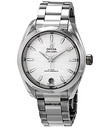 Omega Seamaster Aqua Terra Waved Opaline Silvery Dial Automatic Ladies Watch
