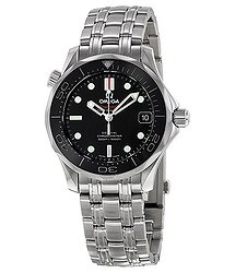 Omega Seamaster Automatic Chronometer Black Dial Unisex Watch