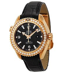 Omega Seamaster Planet Ocean 18kt Rose Gold Diamond 37.5 mm Watch