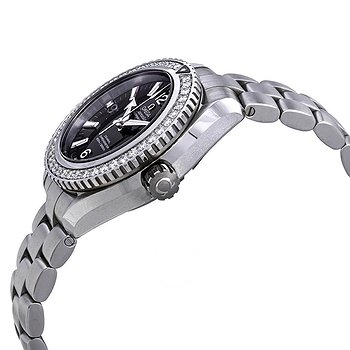 Купить часы Omega Seamaster Planet Ocean Automatic Chronometer Diamond Black Dial Ladies Watch  в ломбарде швейцарских часов