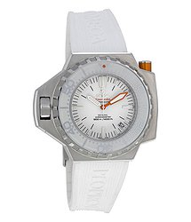 Omega Seamaster Ploprof White Dial White Rubber Men's Watch 22432552104001