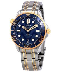 Omega Seamaster Sedna Blue Dial Steel and 18kt Yellow Gold Watch