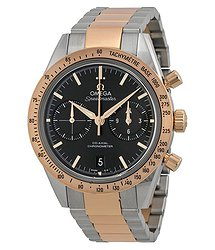 Omega Speedmaster Black Dial Chronograph Steel and 18kt Rose Gold Automatic Men's Watch