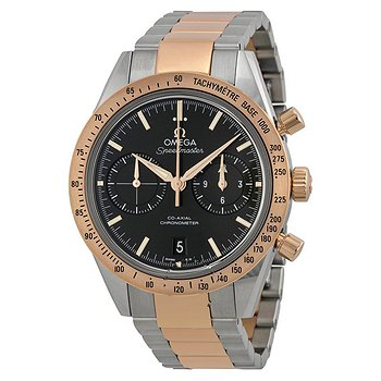 Купить часы Omega Speedmaster Black Dial Chronograph Steel and 18kt Rose Gold Automatic Men's Watch  в ломбарде швейцарских часов