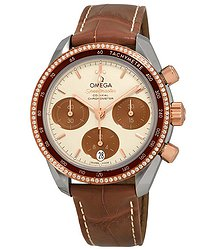 Omega Speedmaster Chronograph Stainless Steel & Rose Gold Diamond Ladies Watch