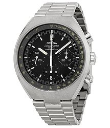 Omega Speedmaster Mark II Automatic Chronograph Black Dial Stainless Steel Men's Watch