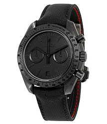 "Omega Speedmaster Moonwatch Dark Side of the Moon ""Black Black"" Chronograph Black Dial Black Nylon Men's Watch 31192445101005"