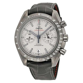 Купить часы Omega Speedmaster Professional Grey Side of the Moon Chronograph Automatic Sandblasted Platinum Dial Grey Leather Men's Watch  в ломбарде швейцарских часов