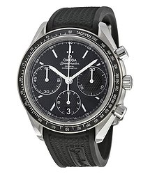 Omega Speedmaster Racing Automatic Chronograph Black Dial Stainless Steel Men's Watch