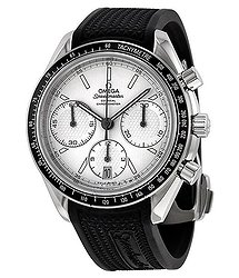 Omega Speedmaster Racing Automatic Chronograph Silver Dial Stainless Steel Men's Watch