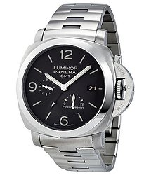 Panerai Luminor 1950 3 Days Black Dial GMT Automatic Stainless Steel Men's Watch
