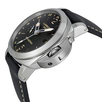Купить часы Panerai Luminor 1950 3 Days GMT 24H Automatic Acciaio Black Dial Black Leather Men's Watch  в ломбарде швейцарских часов