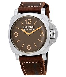 Panerai Luminor 1950 Acciao Brown Dial Men's Watch