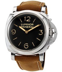 Panerai Luminor 1950 Black Dial Leather Men's Watch