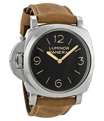 Panerai Luminor 1950 Left-handed 3 Days Acciaio Black Dial Men's Watch