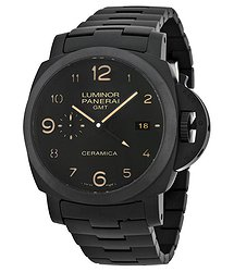Panerai Luminor 1950 Tuttonero GMT Black Dial Men's Watch