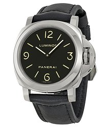 Panerai Luminor Base Black Dial and Leather Strap Men's Watch 00112