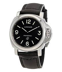 Panerai Luminor Base Logo Acciaio Black Dial Men's Watch