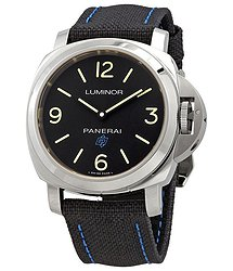 Panerai Luminor Black Dial Black Canvas Men's Watch