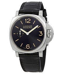 Panerai Luminor Due Black Dial Men's Hand Wound Watch