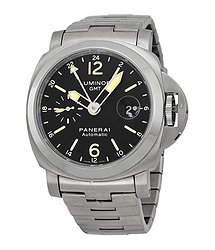 Panerai Luminor GMT Black Dial Stainless Steel Men's Watch