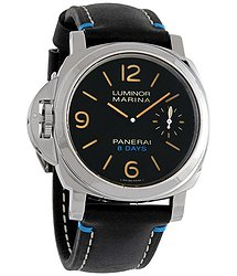 Panerai Luminor Left-Handed Hand Wind Black Dial Men's Watch