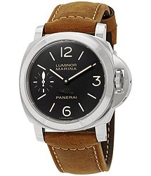 Panerai Luminor Marina Black Dial Men's Hand Wound Watch