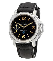 Panerai Luminor Marina Hand Wound Black Dial Men's Watch
