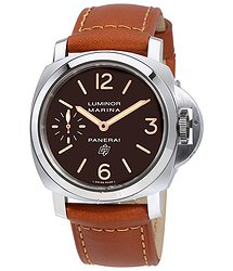 Panerai Luminor Marina Logo Acciaio Brown Dial Men's Hand Wound Watch