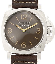 Panerai Luminor Stainless Steel Brown Manual Wind PAM00663