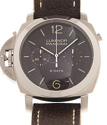 Panerai Luminor Stainless Steel Dark Brown Manual Wind PAM00345