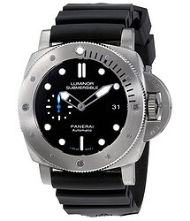 Panerai Luminor Submersible 1950 Black Dial Automatic Men's Rubber Watch