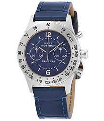 Panerai Mare Nostrum Acciaio Chronograph Blue Dial Men's Watch