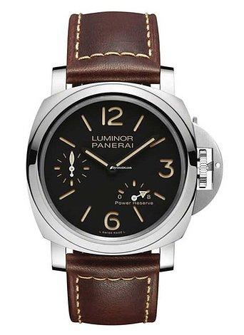 Купить часы Panerai PAM00795 PAM 795 Luminor 8 Days Power Reserve Acciaio in Stainless Steel - on Brown Calfskin Leather Strap with Black Dial  в ломбарде швейцарских часов