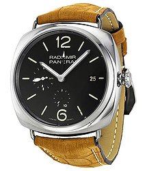 Panerai Radiomir 10 Days GMT Black Dial Brown Leather Men's Watch