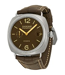Panerai Radiomir 8 Days Brown Dial Brown Leather Men's Watch