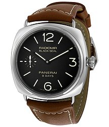 Panerai Radiomir Black Dial Brown Leather Men's Watch