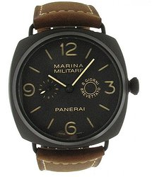 Panerai Radiomir Composite Marina Militaire Brown Dial Leather Men's Watch