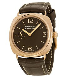 Panerai Radiomir Oro Rosso Manual Wind Brown Dial 18 kt Rose Gold Men's Watch