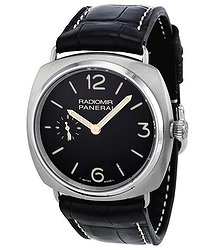 Panerai Radiomir Titanium Black Dial Leather Mechanical Men's Watch