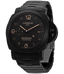 Panerai Tuttonero Luminor GMT Automatic Black Dial Men's Watch
