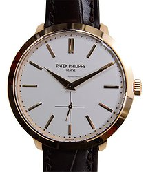 Patek Philippe Calatrava 18kt Rose Gold White Manual Wind 5123R-001
