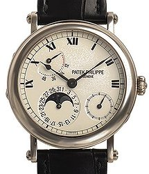 Patek Philippe Complicated Watches WHITE GOLD AUTOMATIC OFFICER'S-STYLE