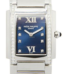 Patek Philippe Twenty-4 Stainless Steel & Diamonds Blue Quartz 4910/10A-012