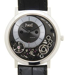 Piaget Altiplano 18kt White Gold Black Manual Wind G0A39111